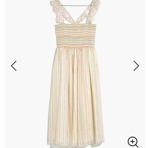 Madewell Ruffle-Strap Smocked Dress